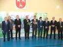 Dyrektor ZS NR 1 pan Tadeusz Federczyk wraz z Dyrektorem PUP w Łukowie panem Stanisławem Puchem otwierają VI Targi Pracy i Edukacji.